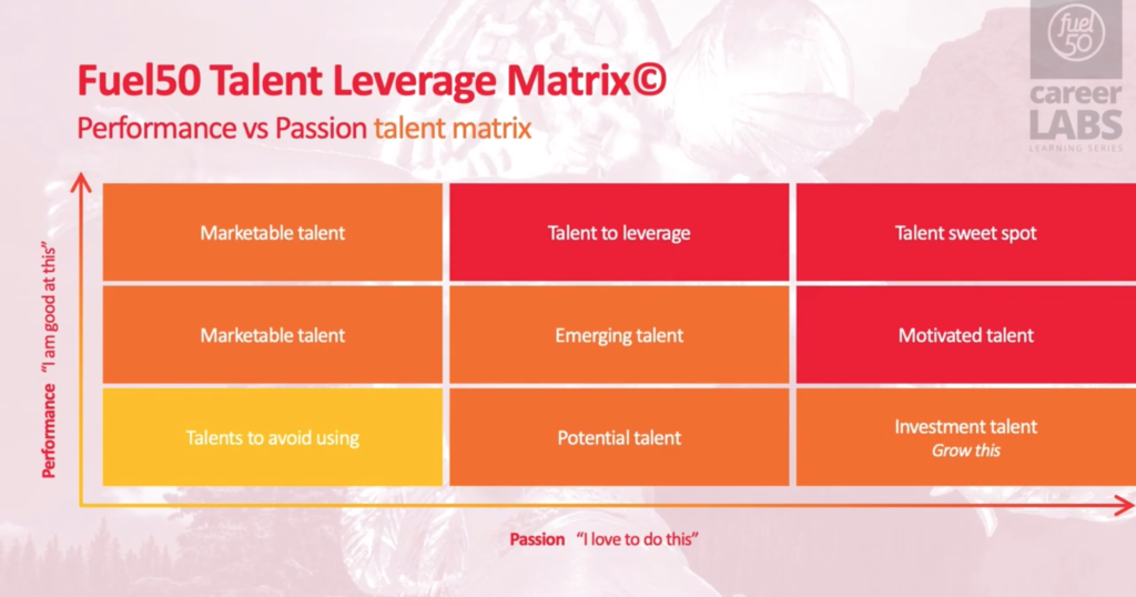Fuel50 Talent Leverage Matrix