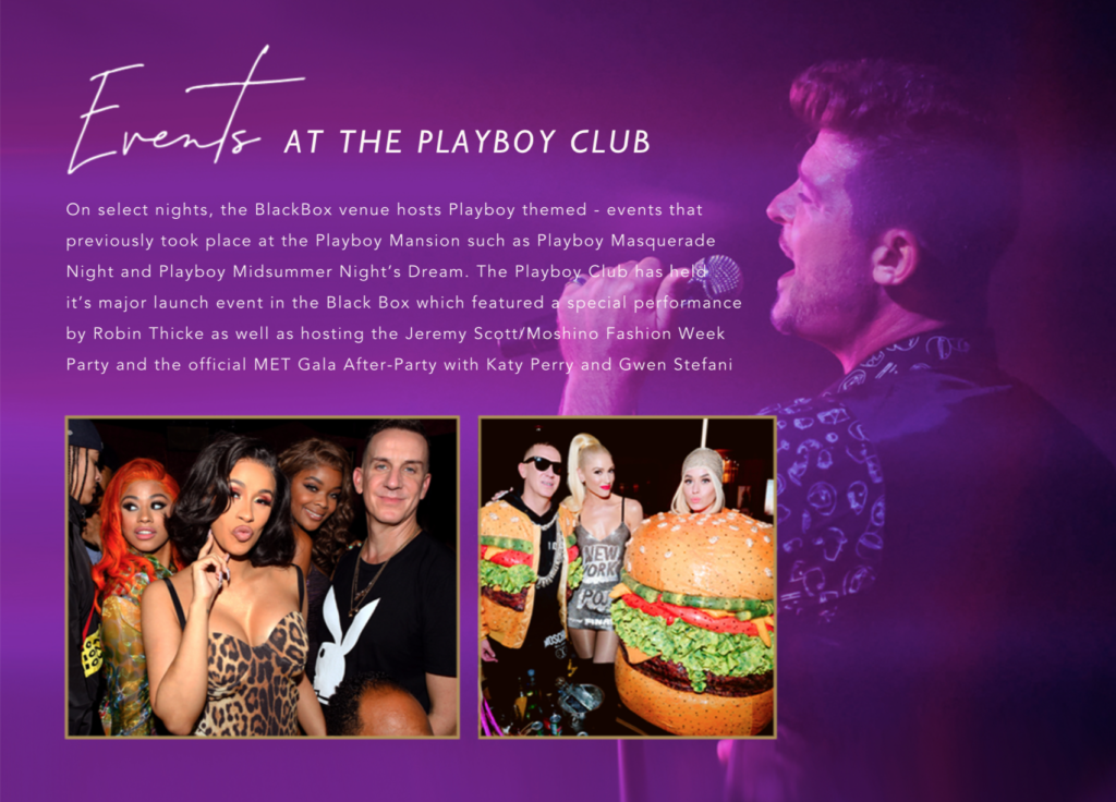 Events at the Playboy Club