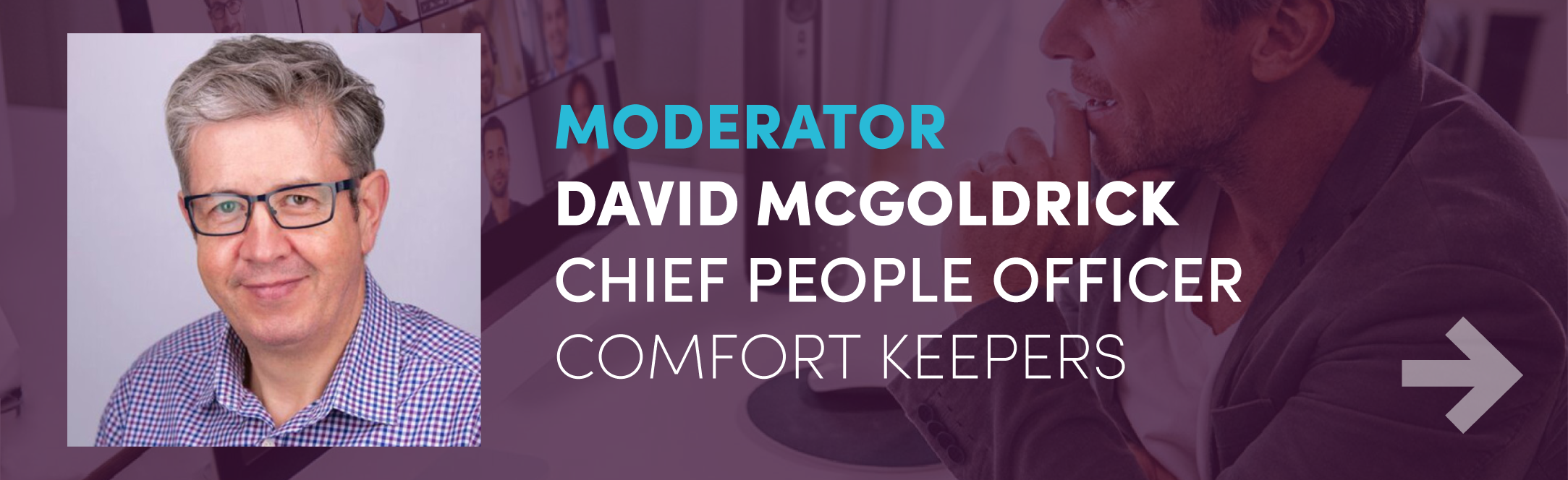 modrator david mcgoldrick chief people officer